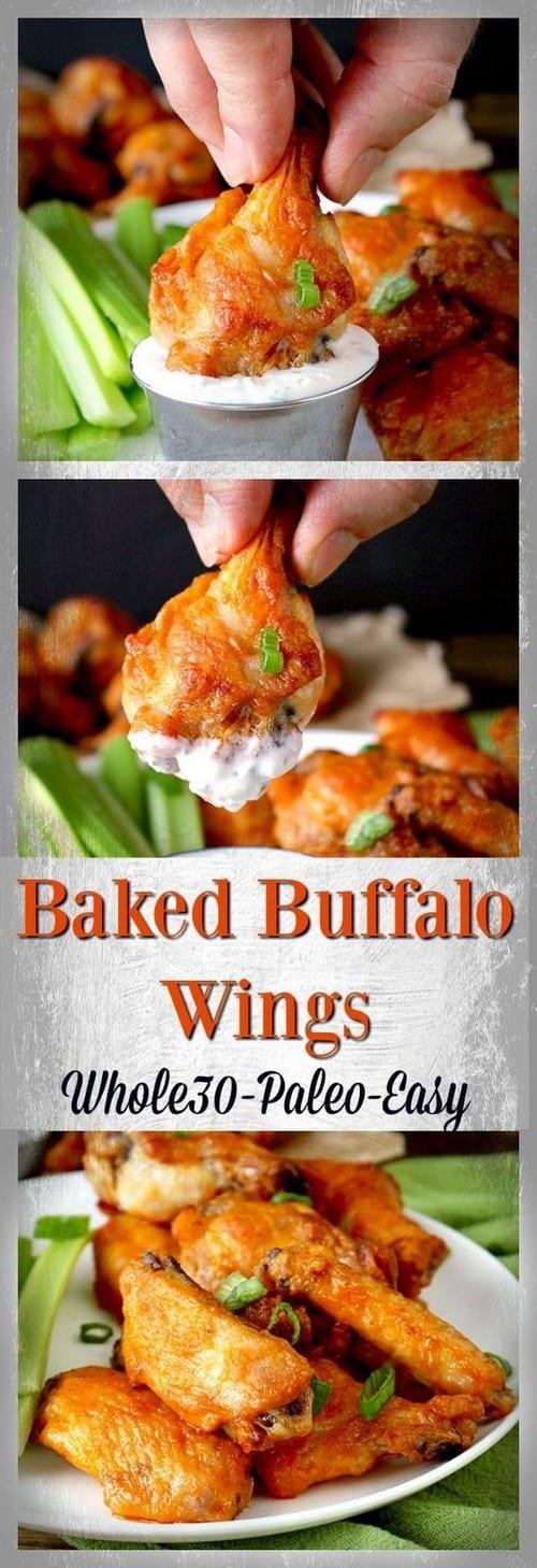 Whole30 Easy Baked Buffalo Wings