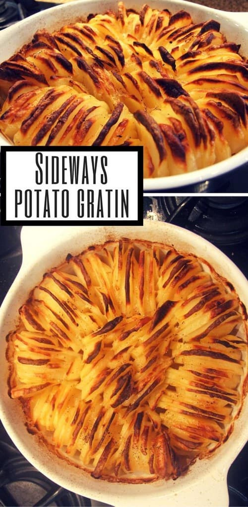 Whole30 Sideways Potato Gratin