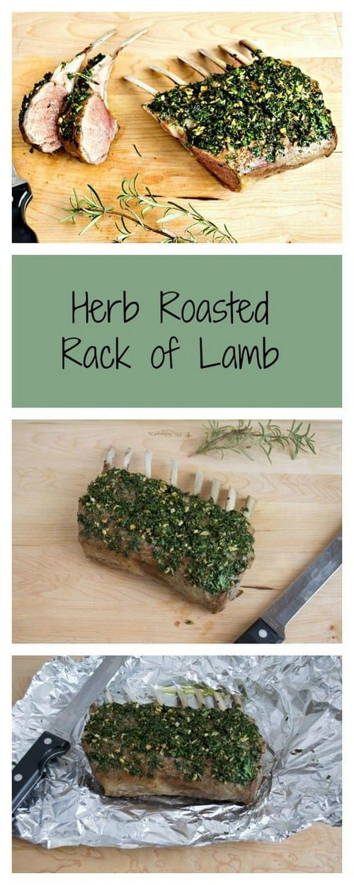 Whole30 Herb Roasted Rack of Lamb