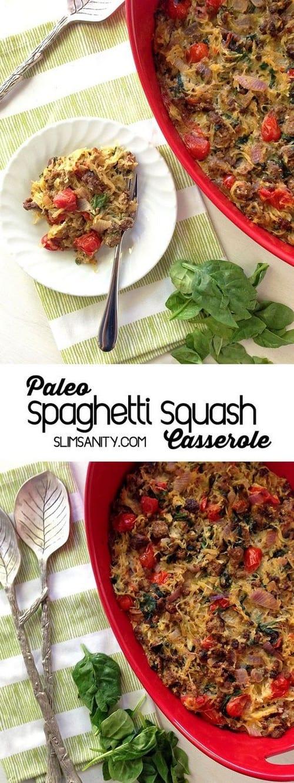 Whole30 Paleo Spaghetti Squash Casserole