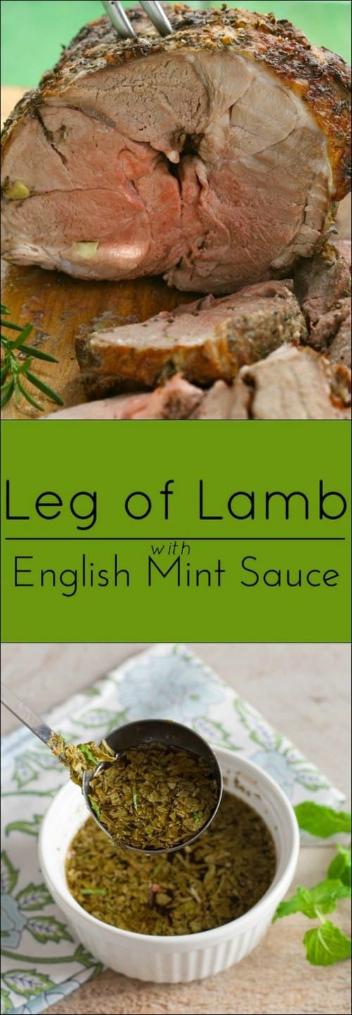 Whole30 Leg of Lamb with Fresh Mint Sauce