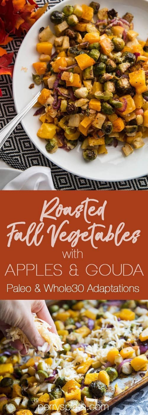 Whole30 Roasted Fall Vegetables with Apples