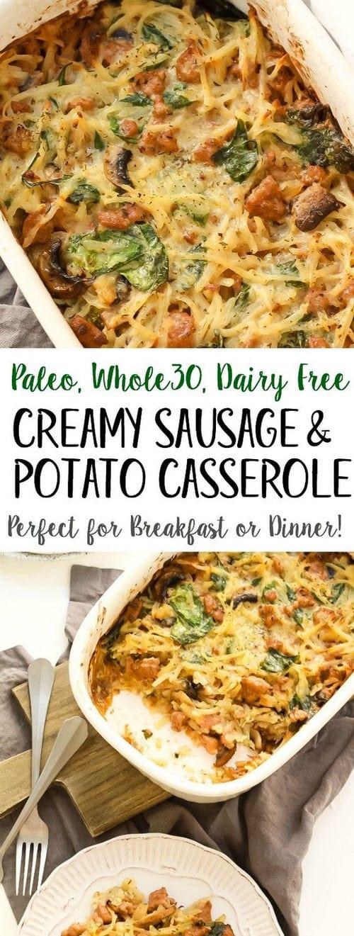 Whole30 Creamy Sausage & Potato