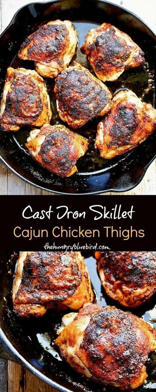 cast-iron-skillet-cajun-chicken-thighs