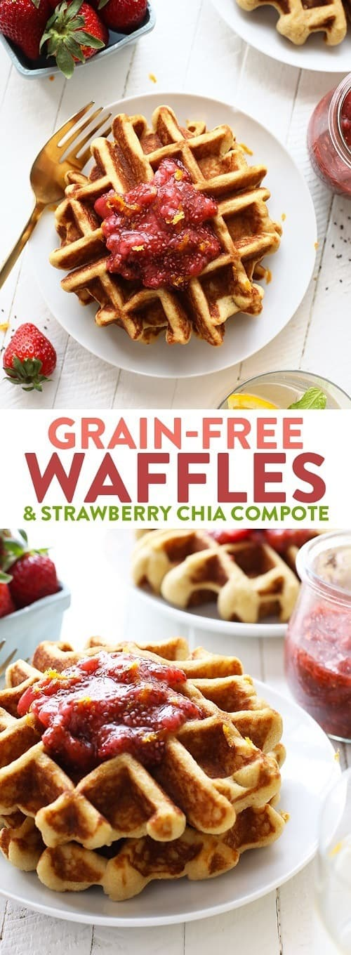 whole30-waffles-with-homemade-strawberry-chia-compote