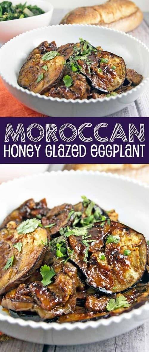 Mediterranean Moroccan Honey Glazed Eggplant