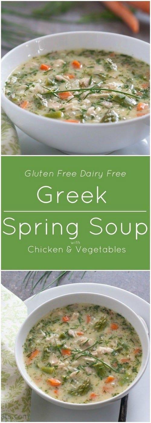 Mediterranean Greek Spring Soup
