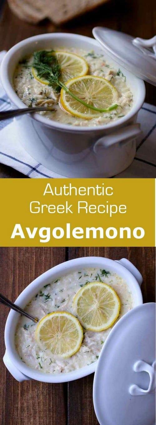 Mediterranean Avgolemono Soup