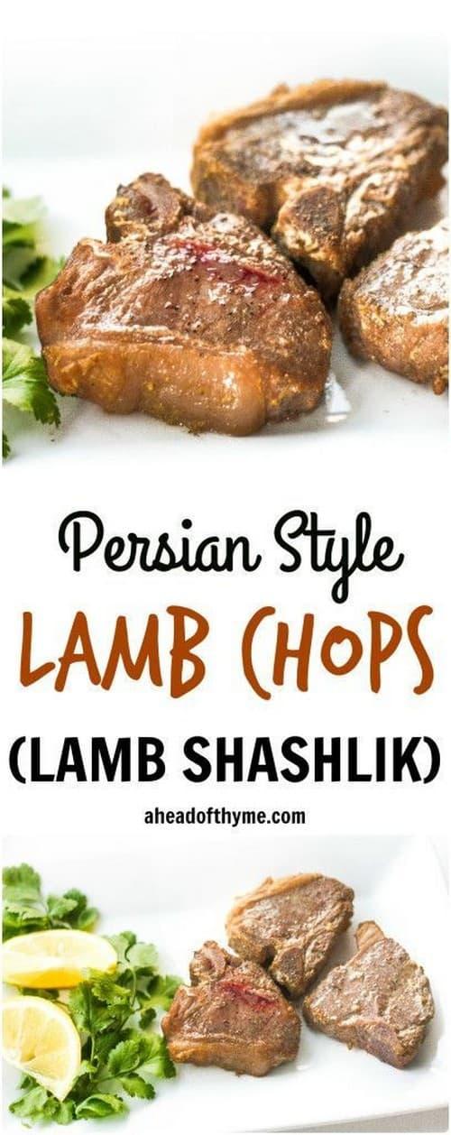 Mediterranean Persian Style Lamb Chops