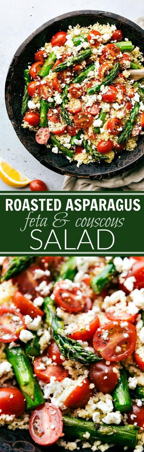Mediterranean Roasted Asparagus, Tomato, & Feta Couscous