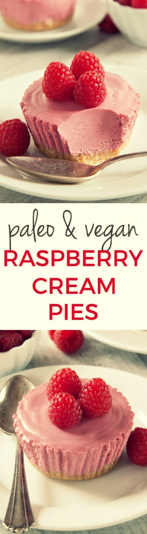 Mediterranean Paleo Raspberry Cream Pies Recipe