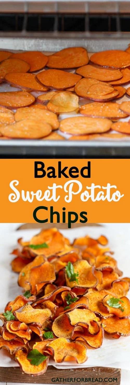 Whole30 Baked Sweet Potato Chips
