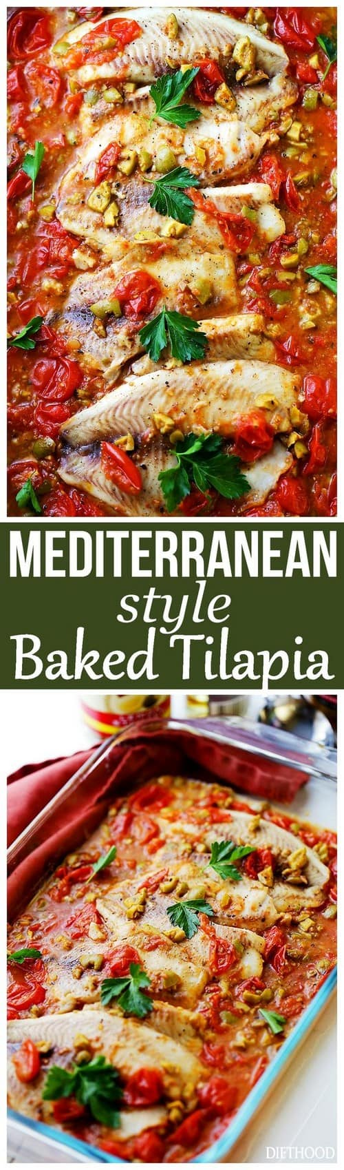 Mediterranean Style Baked Tilapia