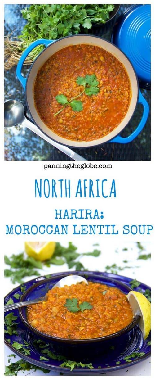 Mediterranean Moroccan Lentil Soup