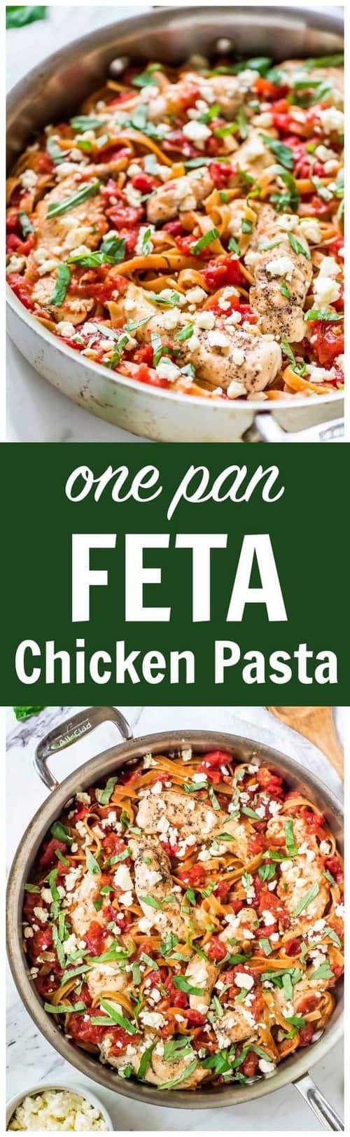 Mediterranean One-Pan Feta Chicken Pasta