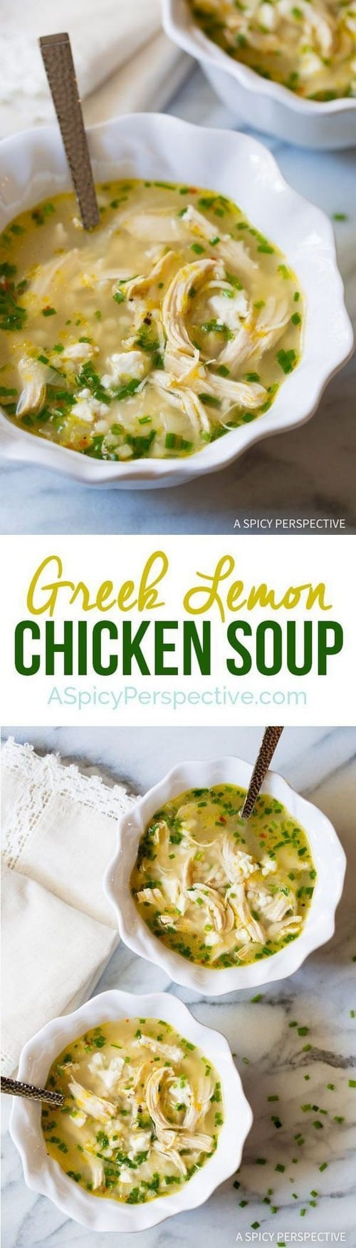 Mediterranean Greek Lemon Chicken Soup