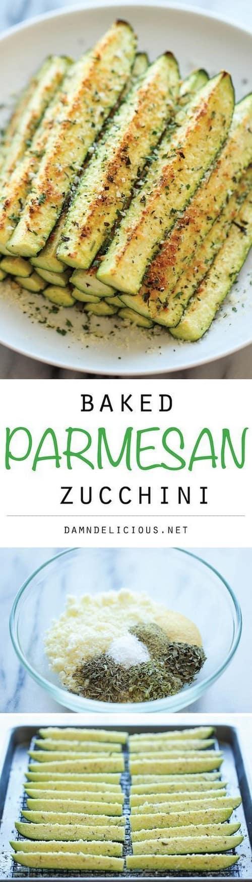 Mediterranean Baked Parmesan Zucchini