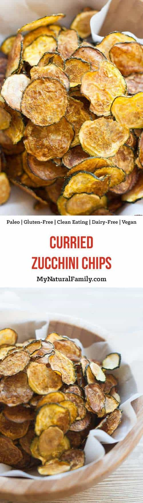Whole30 Curried Zucchini Chips