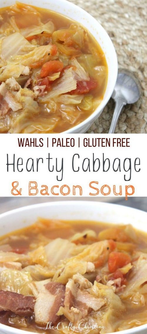 Whole30 Hearty Cabbage Bacon Soup