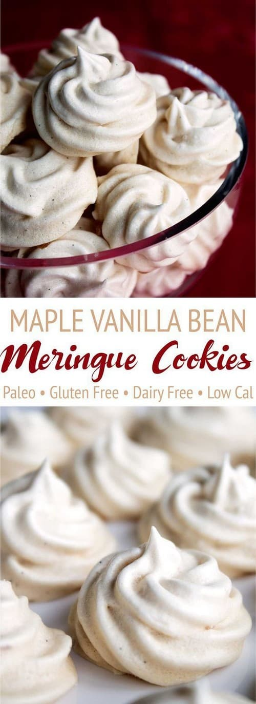 Mediterranean Maple Vanilla Bean Meringue Cookies