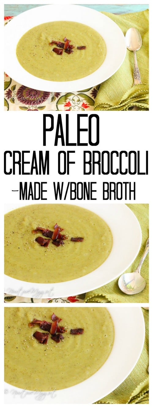 Whole30 Paleo Cream of Broccoli Soup