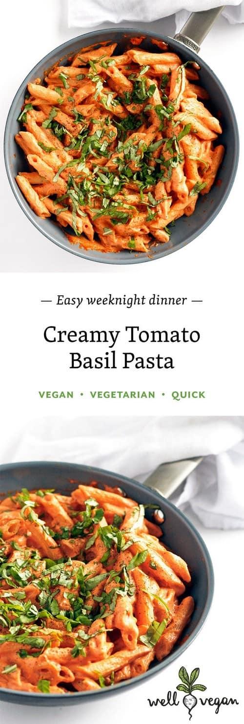 Mediterranean Tomato Basil Cream Pasta