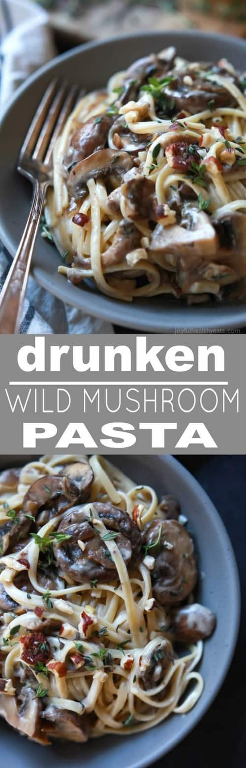 Mediterranean Drunken Wild Mushroom Pasta