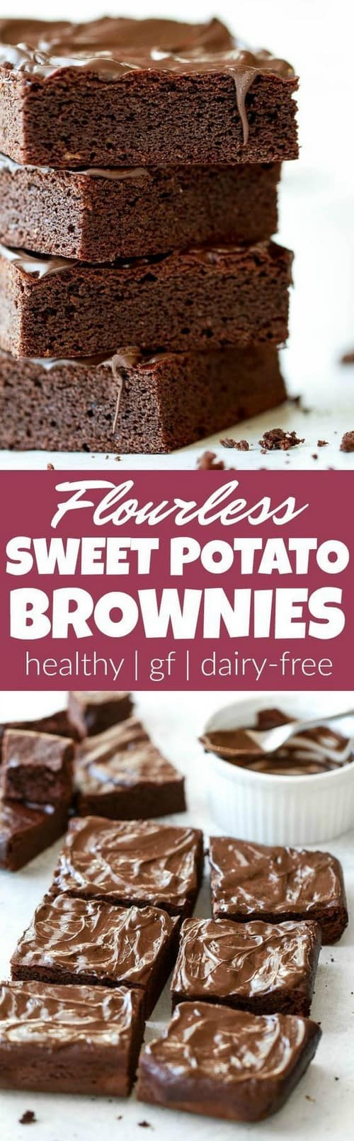 Mediterranean Flourless Sweet Potato Brownies