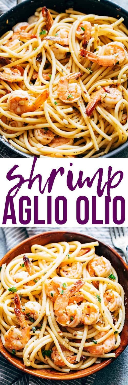 Mediterranean Shrimp Spaghetti Aglio Olio