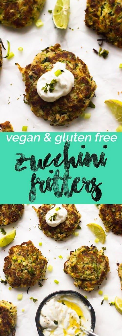 Mediterranean Vegan Zucchini Fritters