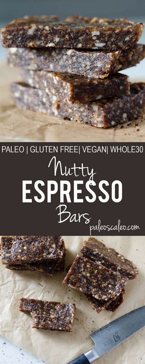 Whole30 Nutty Espresso Bars