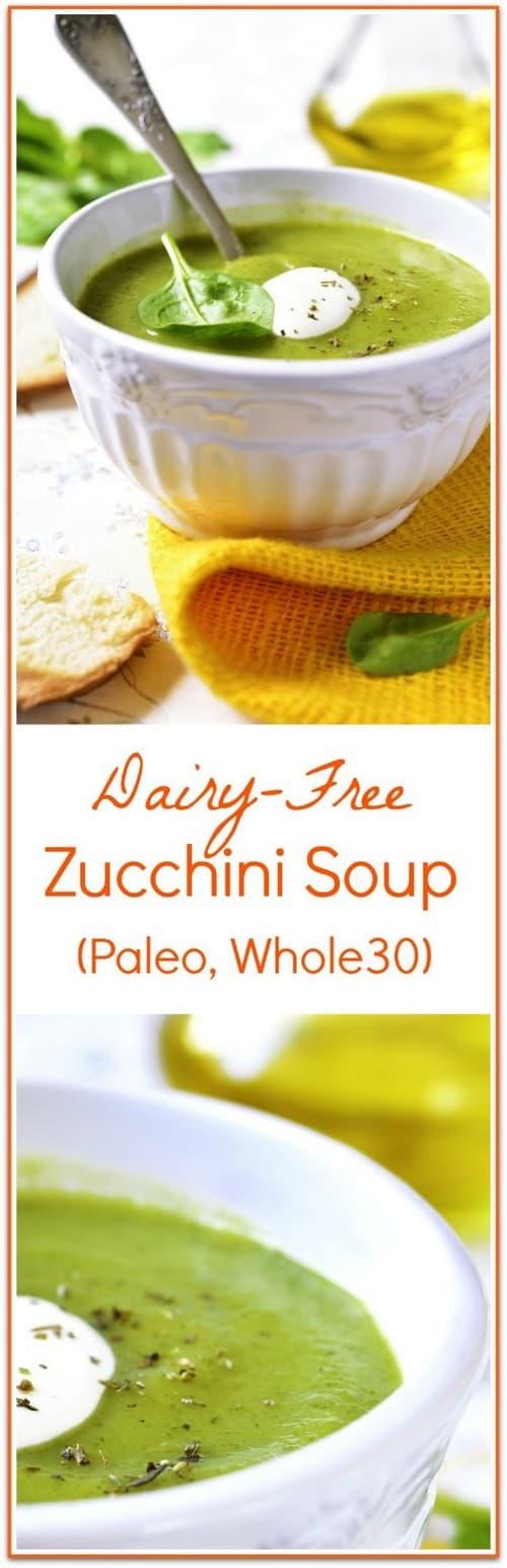 Mediterranean Dairy Free Zucchini Soup