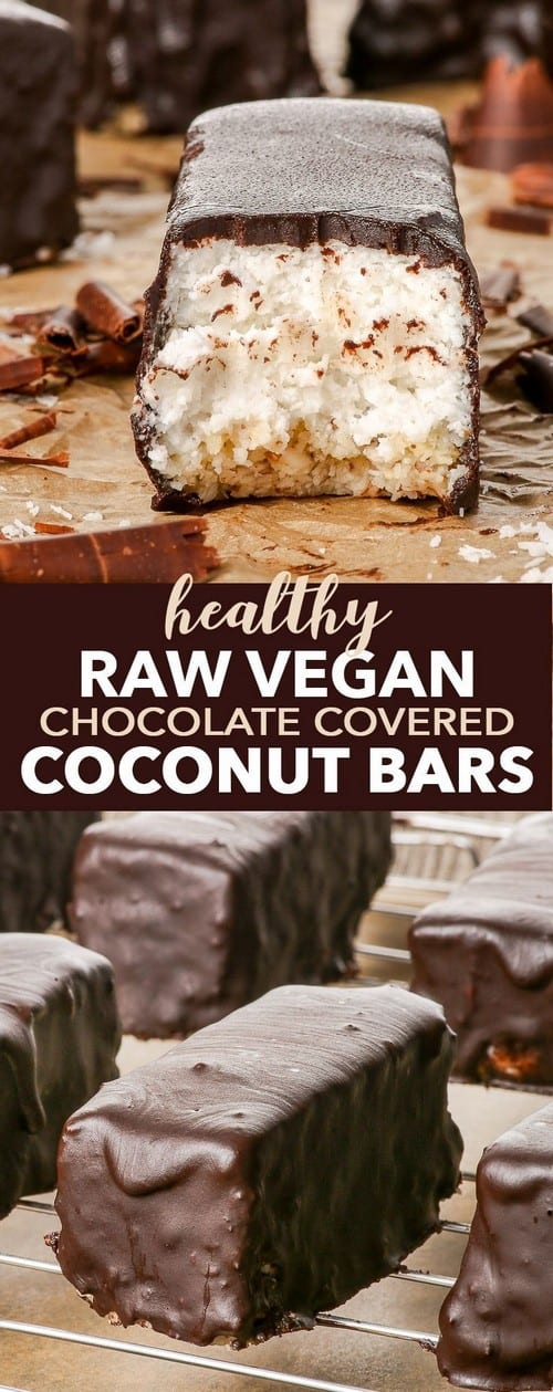 Mediterranean Raw Vegan Chocolate Covered Coconut Bars