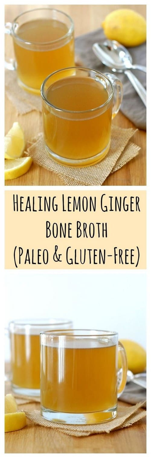 Whole30 Healing Lemon Ginger Bone Broth
