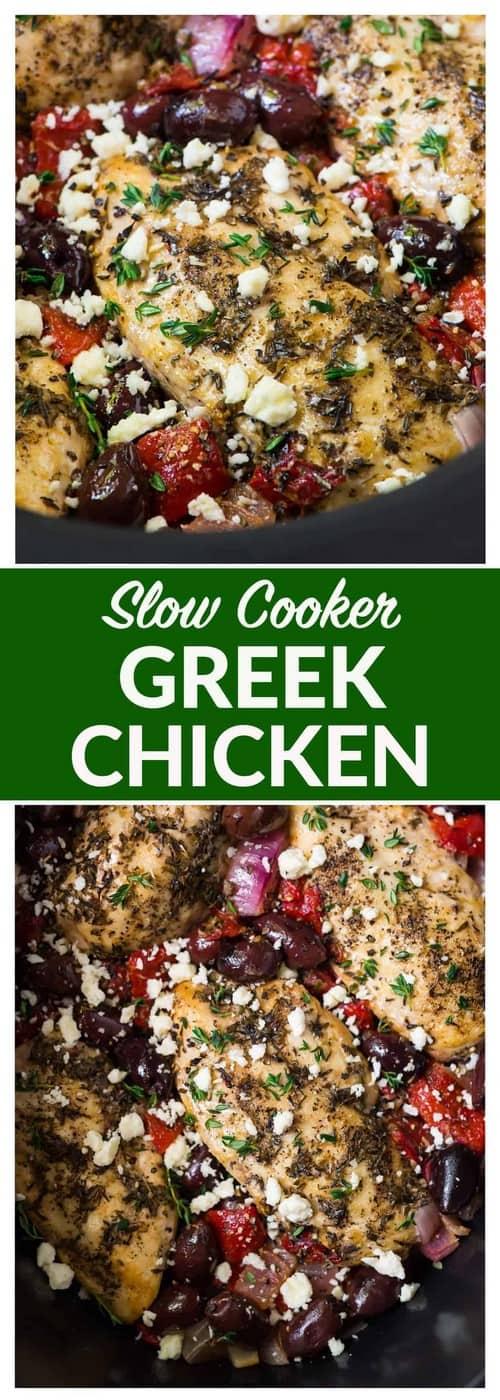 Mediterranean Slow Cooker Greek Chicken