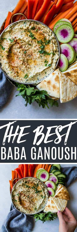 Mediterranean Grilled Eggplant Baba Ganoush