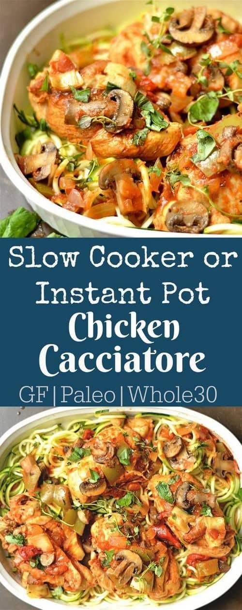 Mediterranean Slow Cooker Chicken Cacciatore