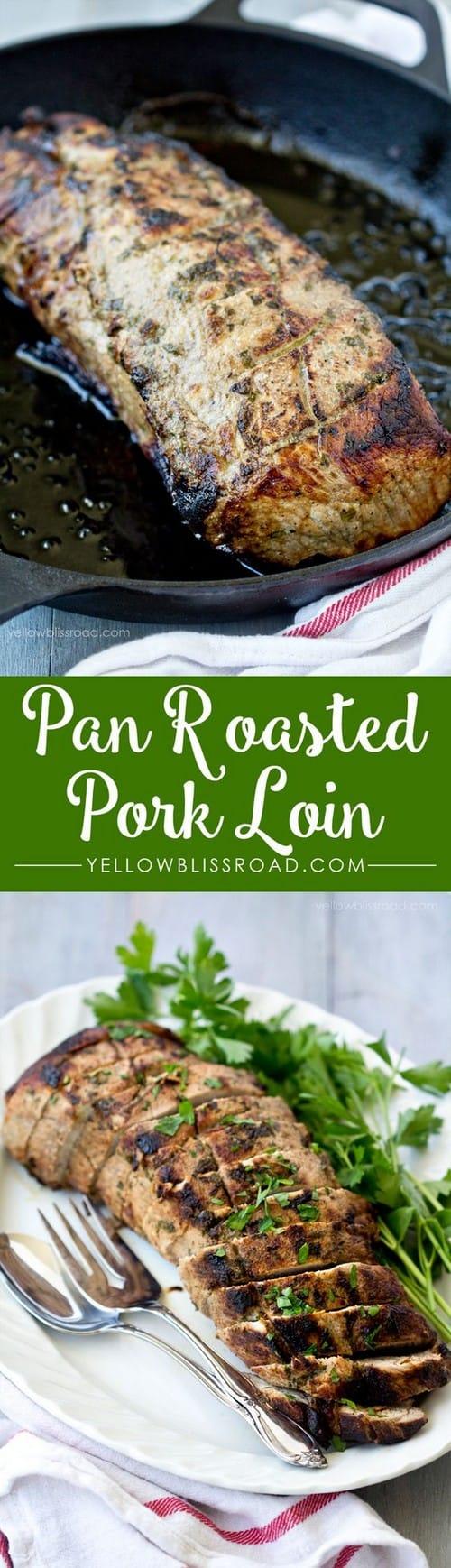 Mediterranean Pan Roasted Pork Loin