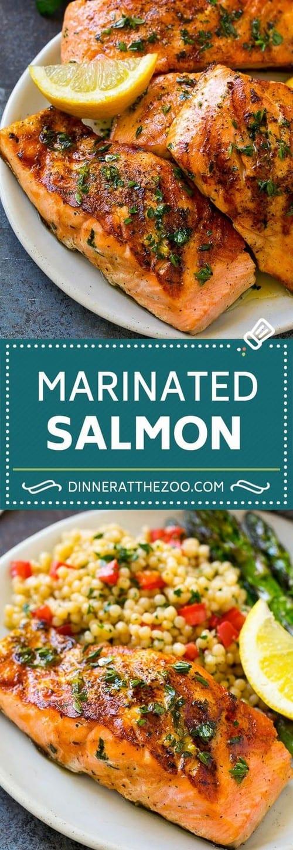 Mediterranean Marinated Salmon