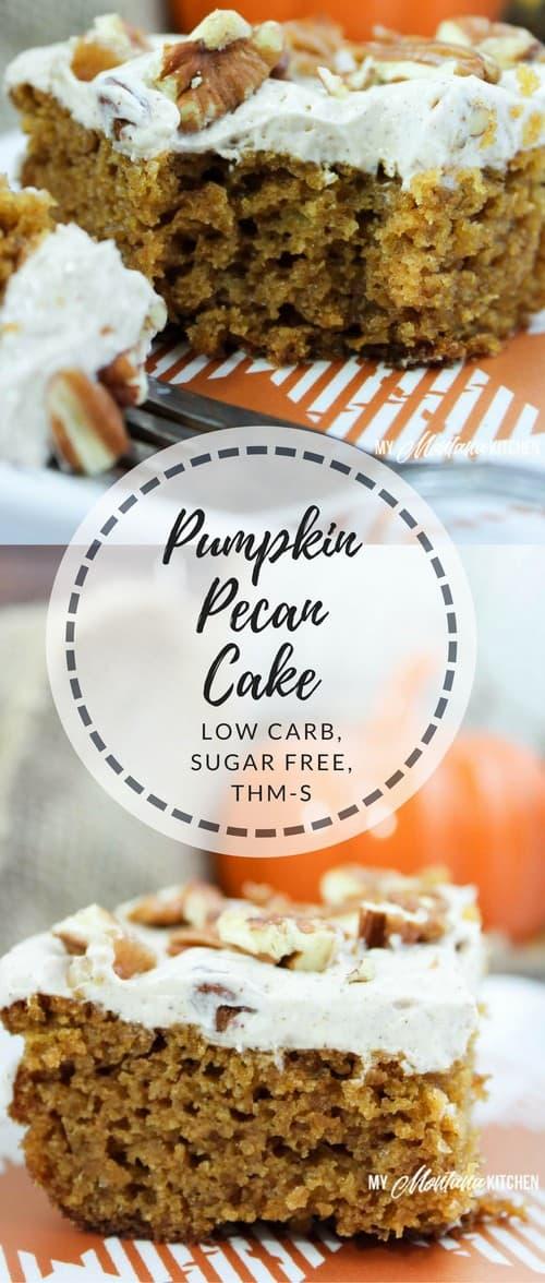 Keto Pumpkin Pecan Cake