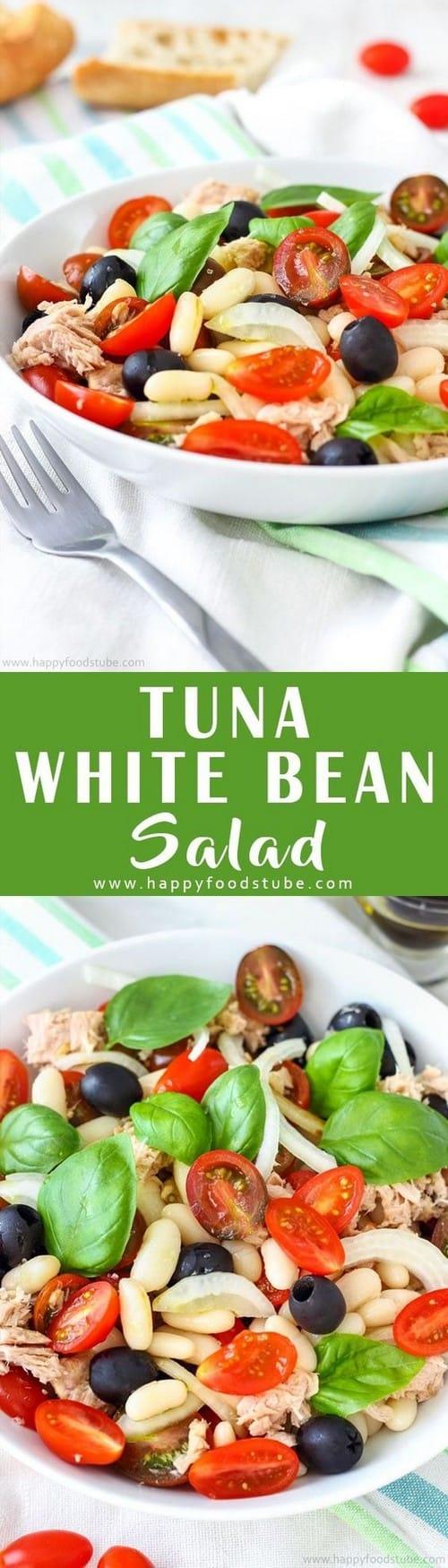 Mediterranean Tuna White Bean Salad