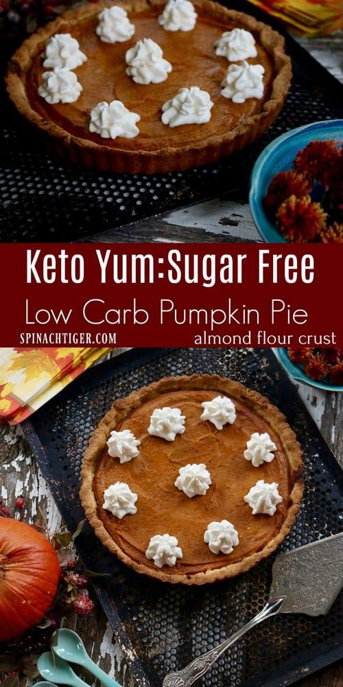Keto Low Carb Magic Pumpkin Pie