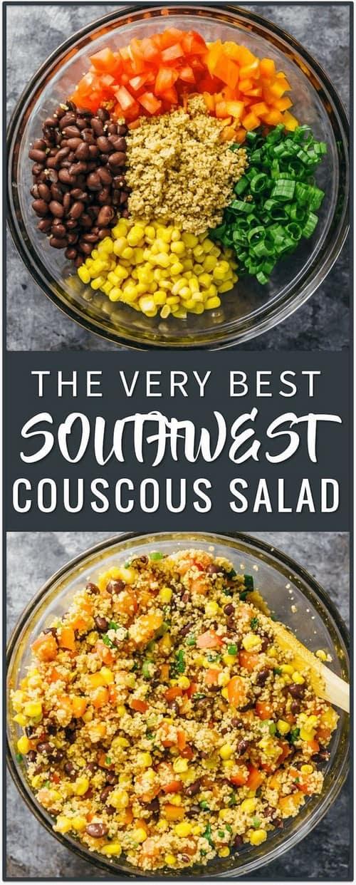 Best Mediterranean Southwest Couscous Salad