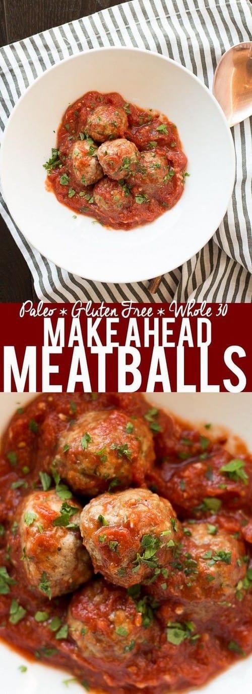 Whole30 Make Ahead Meatballs