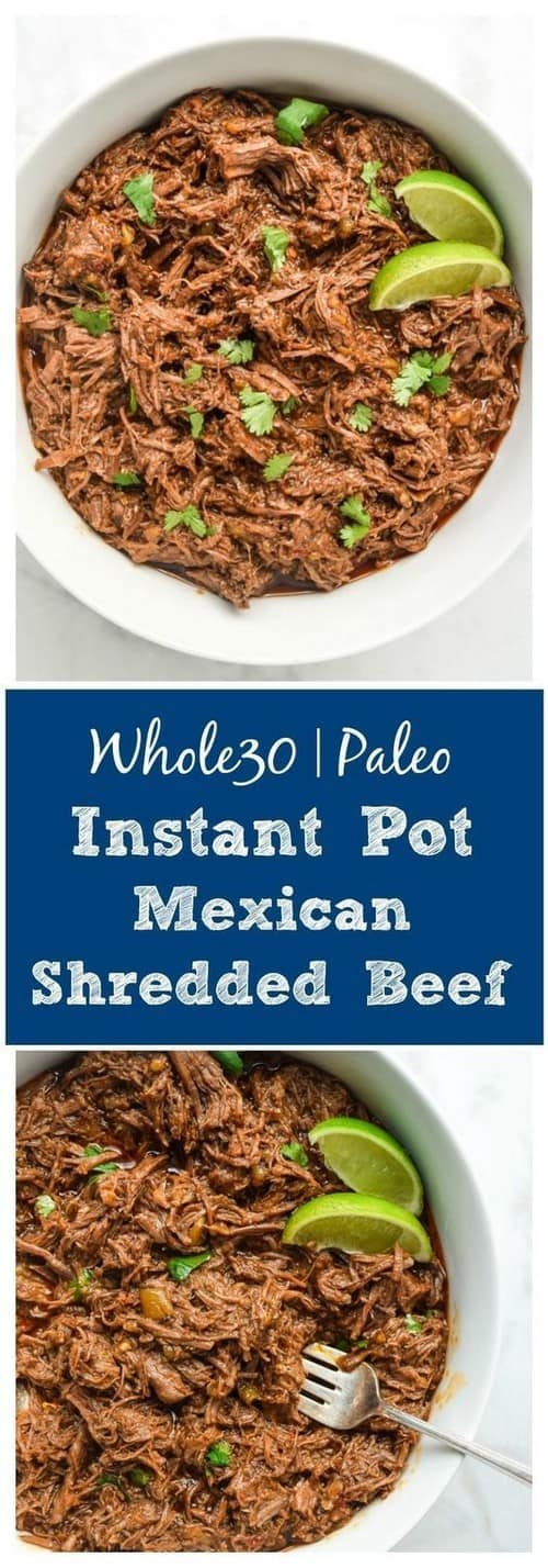 Whole30 Instant Pot Shredded Mexican Beef