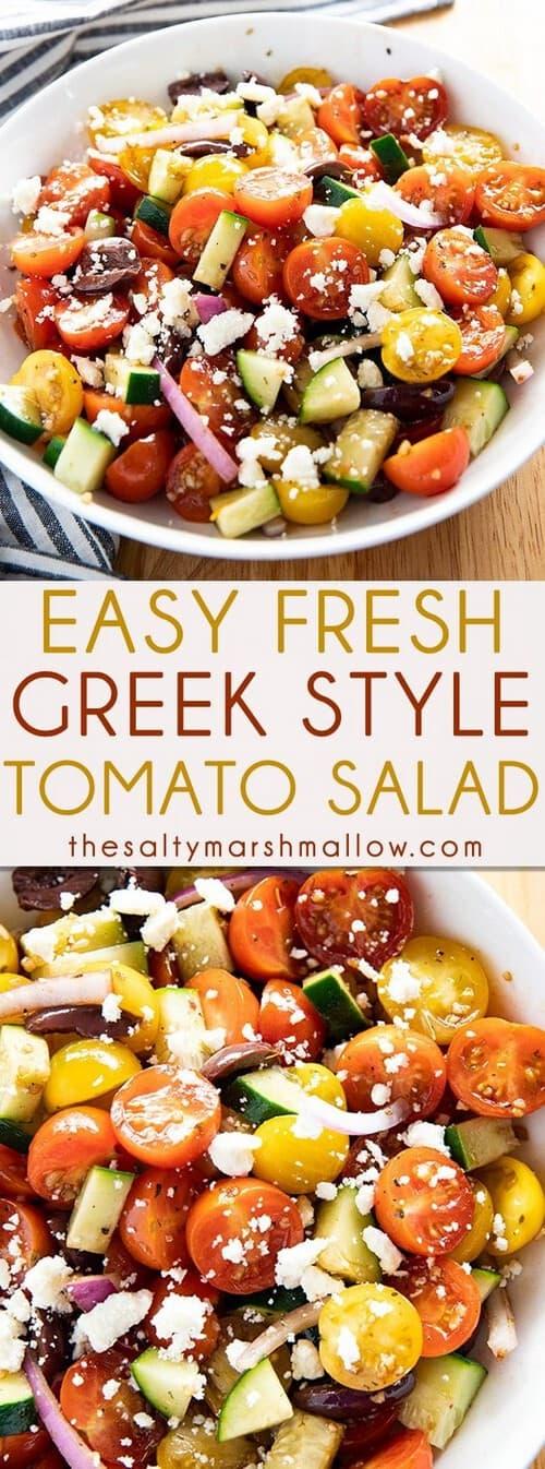 Easy Mediterranean Greek Tomato Salad