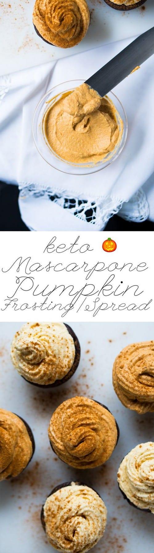 Keto Pumpkin Mascarpone Frosting