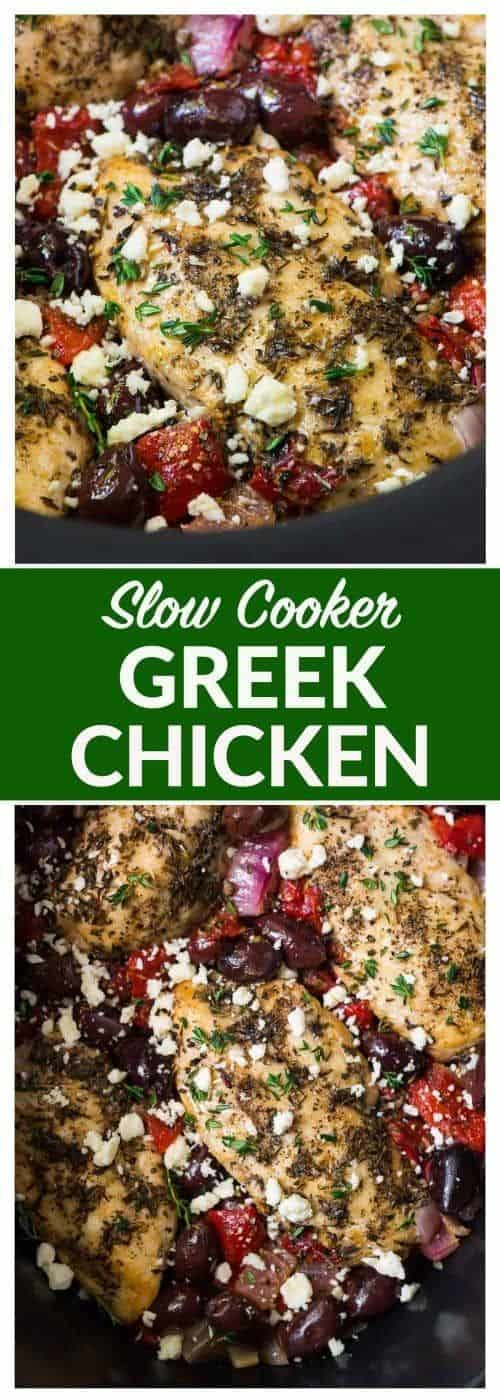 Mediterranean Slow Cooker Greek Chicken