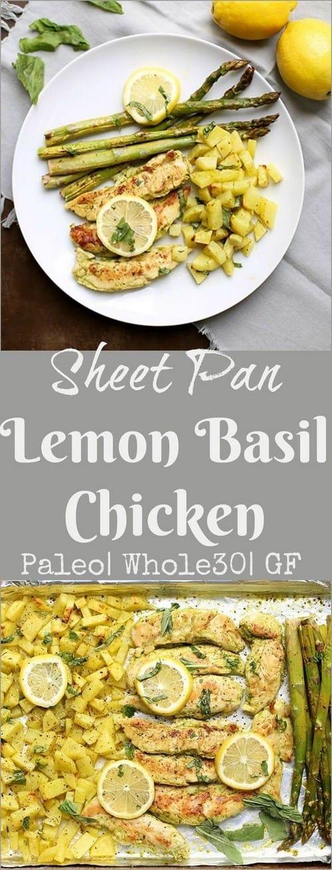 Whole30 One Sheet Pan Lemon Basil Chicken