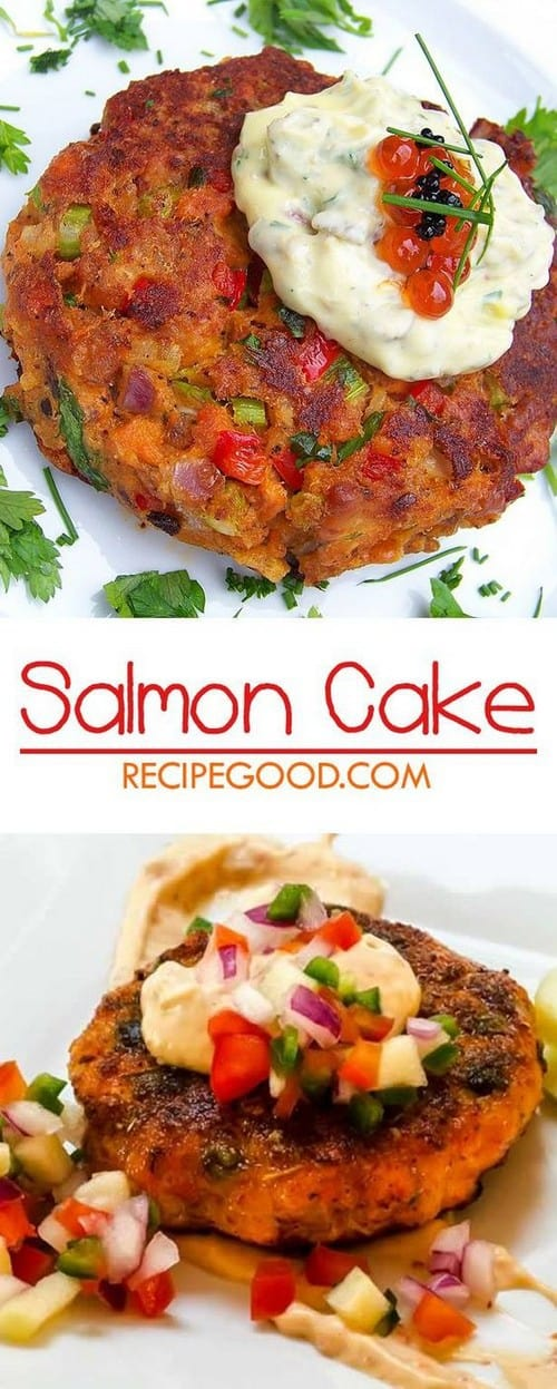 Mediterranean Simple and Easy Salmon Cake